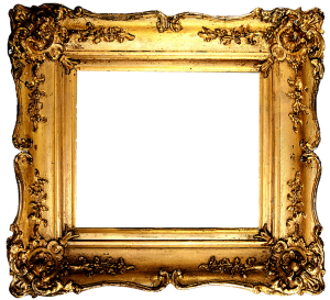 Vintage gilded gold fancy frame free printable (1)