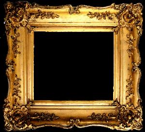 Vintage gilded gold fancy frame free printable (1)
